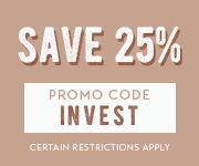 Save with promo code INVEST